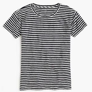 J. Crew Relax Linen Stripe T-Shirt